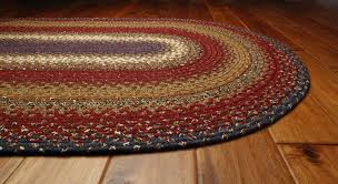 homespice log cabin cotton braided area throw rug cottage log cabin rugs