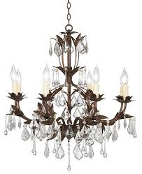 kathy ireland venezia bronze with clear 8 light chandelier euro style lighting