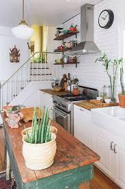 cottage kitchen ideas. Plain Kitchen Distressed Island Cottage Kitchen Idea In Ideas