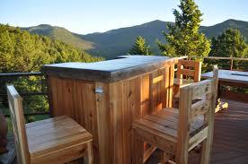 patio bar wood. Fabulous Outdoor Bar For Your Home Inspiration: Natural Cedar Wood With Quartz Countertop Patio