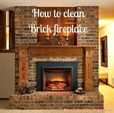 elegant cleaning brick fireplace how to clean brick fireplace cleaning brick fireplace with tsp