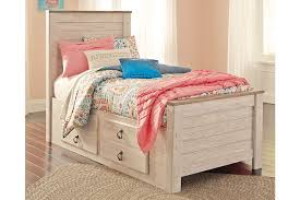 Willowton Twin Panel Bed with Storage | Ashley Furniture HomeStore