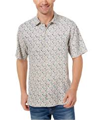 Tommy Bahama Mens Geometric Button Up Shirt