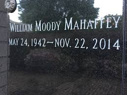 William Moody Mahaffey (1942-2014) - Find A Grave Memorial