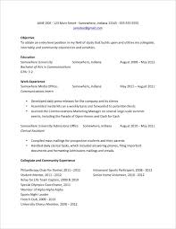 Sample Resume For College Students Custom Basic Resume Examples For College Resume Examples For College Sample
