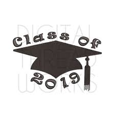 Class Of 2019 Embroidery Design Graduation Cap Class Of 2019 Machine Embroidery Design