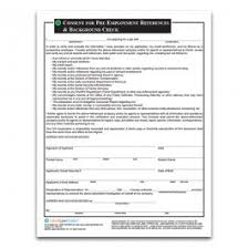 Employment Reference Check Background Check Legal Form