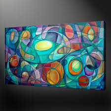 modern design cubism canvas wall art pictures prints  x  inch