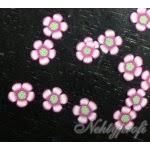 Nehtyprofi Zdobení Na Nehty Fimo Růžovo Bílé Květinky 20 Ks