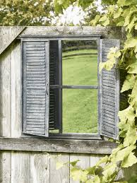 outdoor shutter mirror
