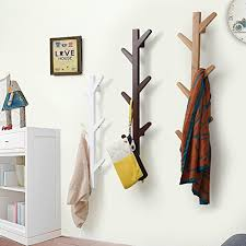 Decorative Wall Coat Racks EGoal 100 Hooks Bamboo Tree Wall Coat Rack Wall Mounted Hanger 75