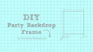 diy party backdrop frame partiesforpennies com tutorial diy photobackdrop