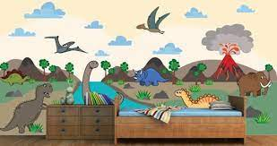 dinosaur land wall mural dezign with a z