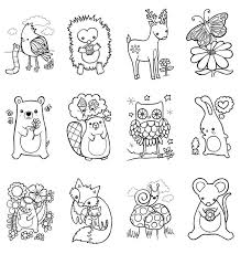 Coloring Pages Forest Animals Forest Animal Coloring Pages 9749
