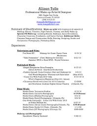 Sample Resume For Freelance Makeup Artist Valid Resume Makeup Artist