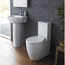 milano bathroom toilet wc and basin sink set with soft close seat