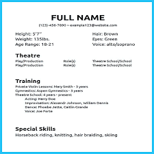 Theater Resume Template Beauteous Musical Theatre Resume For Study Theater Template 448 48 48