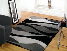 awesome black and gray area rugs decorated in living room with cozy armchair office depot modern home plush for grey carpet bedroom style dining rug