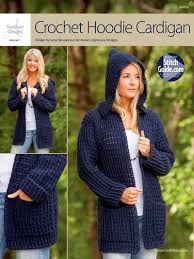 Crochet Cardigan Pattern Gorgeous ANNIE'S SIGNATURE DESIGNS Crochet Hoodie Cardigan Crochet Pattern