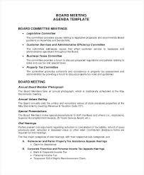 Sample Agendas For Board Meetings Sample Of Agenda Of Meeting Format Sample Agenda Template For