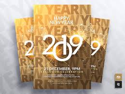 New Year Flyers Template 2019 New Year Flyer Template By Rome Creation On Dribbble