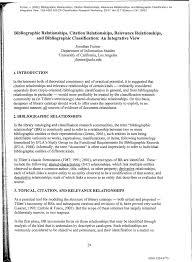 Pdf Bibliographic Relationships Citation Relationships Relevance