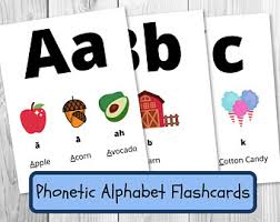 This page lets you hear the sounds that the symbols represent, but remember. Phonetic Cards Etsy