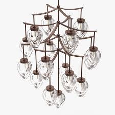 holly hunt chamber chandelier 3d model max obj 3ds fbx mtl unitypackage 2