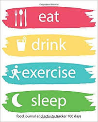 Food And Exercise Trackers Food Journal And Activity Tracker 100 Days Eat Drink