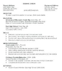 Example Resume Student Resume Objective For First Job First Job Resume Examples College