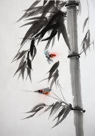 bamboo painting anese calligraphy sumi e zen art abstract artwork