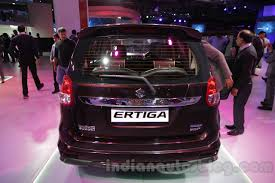 2018 suzuki ertiga. exellent ertiga maruti ertiga limited edition rear at the auto expo 2016 inside 2018 suzuki ertiga
