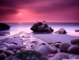 Purple Ocean Beach Sunset Hd Wallpaper Wallpapers Imgur