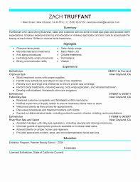 Resume For Esthetician Esthetician Resume Cover Letter Sample Http Www