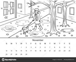 Kleurplaat Kalender
