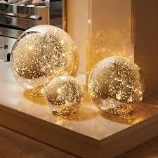 glass ball lighting. 3 Mercury Glass Ball Lights Set - Warm White LED String Lights Encased In  Silver Mercury Glass Balls £19.99 Ball Lighting