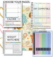 Food Calorie Book Food Diary Planner Book 2019 Log Stickers Sw Friendly Ww Calorie
