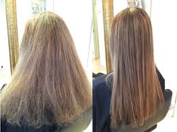 image of before and after hair treatment at glow in hong kong