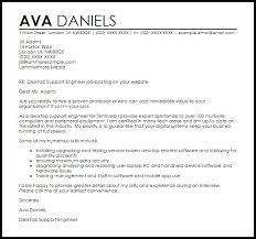 Desktop Support Engineer Cover Letter Sample Resume System