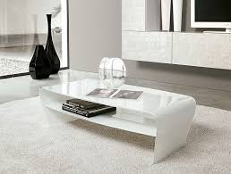 contemporary white coffee table long
