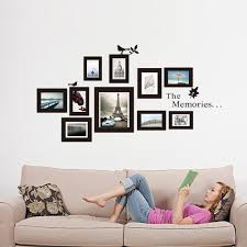 amazon the memories quotes wall decor with 10 frames wall design of family tree wall art on family picture frame wall art with amazon the memories quotes wall decor with 10 frames wall design of