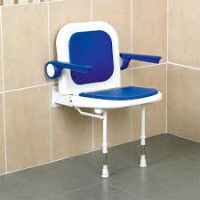 shower seat with arms wall mounted shower seat with back and arm rests low s within