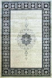 white rug royal traditional medallion cream black knots oriental rugs vinegar on and