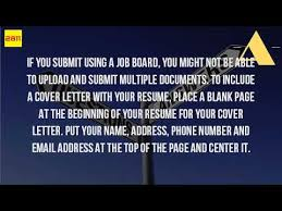 do you need a cover letter with your resumes how do i upload my resume and cover letter together youtube