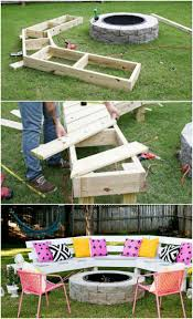 outdoor furniture made with pallets. Diy Circle Bench Around Your Fire Pit Garden Pallet Projects \u0026 Ideas Grills, Bbq Pits Patio Outdoor Furniture Made With Pallets F