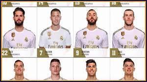 تحديث أرقام قمصان ريال مدريد موسم 2020/2019 - رقم هازارد الأسطوري - غياب  كوبو - YouTube