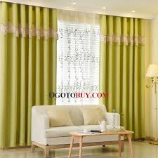 lime green patterned print polyester insulated modern bedroom curtains loading zoom