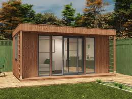 build a garden office. they had electric were insulated drywalled inside and a basic solid floor then clad in this thin exterior log lap build garden office