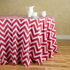 round cotton table cloth chevron tablecloth red white tablecloths
