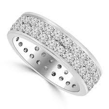 Ct Men S Round Cut Diamond Eternity Wedding Band Ring